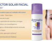 Dermaglós nuevo protector solar FPS 50 facial con color